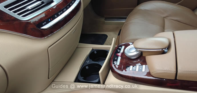 How to add original cup holders to a Mercedes S Class  @ www.jamesandtracy.co.uk