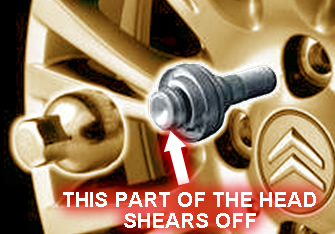 Removing Locking Wheel Nuts that Shear Off (e.g. Citroen)